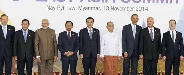 ประชุมสุดยอดเอเชียตะวันออกครั้งที่ 9 ย้ำแก้ปัญหาทะเลจีนใต้อย่างสันติวิธี