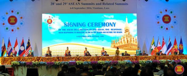 อาเซียนร่วมลงนามปฏิญญาอาเซียนหนึ่งเดียวตอบโต้ภัยพิบัติทั้งในและนอกภูมิภาค
