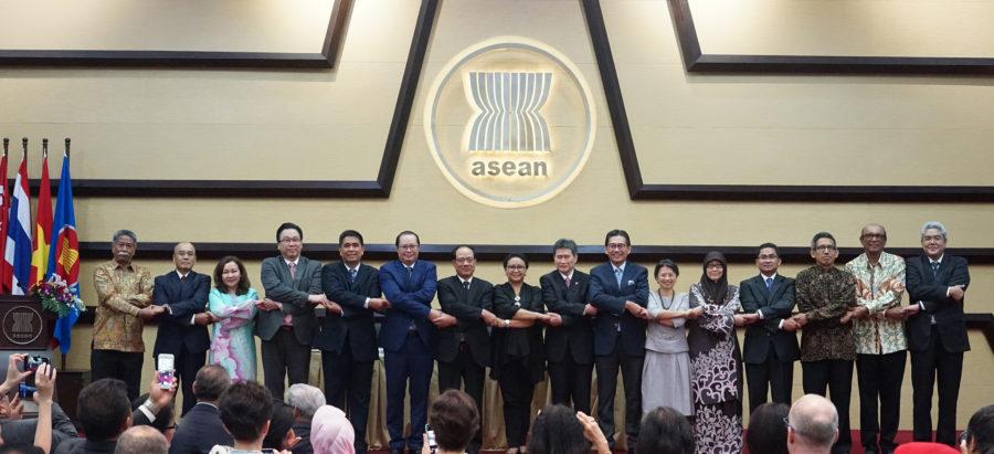 อาเซียนจัดพิธีรับตำแหน่งเลขาธิการอาเซียนคนใหม่ ณ กรุงจาการ์ตา อินโดนีเซีย